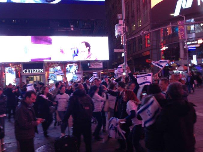 На Таймс-сквер прошла массовая акция в поддержку Израиля. Фото: Алексей Осипов